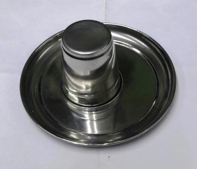 PUJA THALI & GLASS - 1 SET