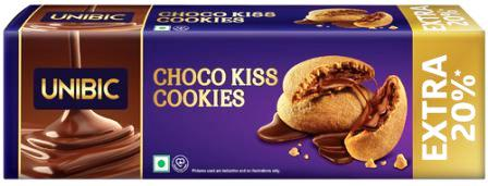 UNIBIC CHOCO KISS COOKIES - 75 GM