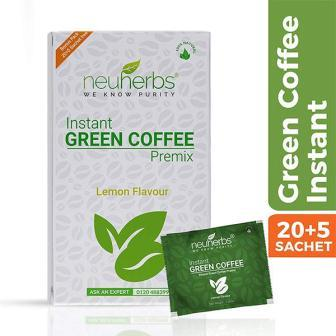 NEUHERBS INSTANT GREEN COFFEE LEMON FLAVOUR (POUCH) - 20 PLUS FREE 5 SACHETS