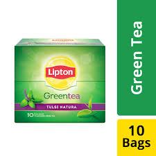 LIPTON GREEN TEA BAGS (TULSI NATURA)  - 10 PCS