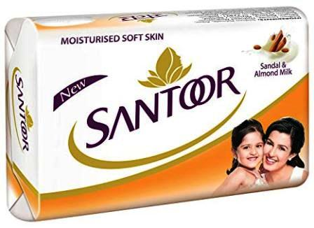 SANTOOR SANDAL & ALMOND MILK SOAP - 125 GM