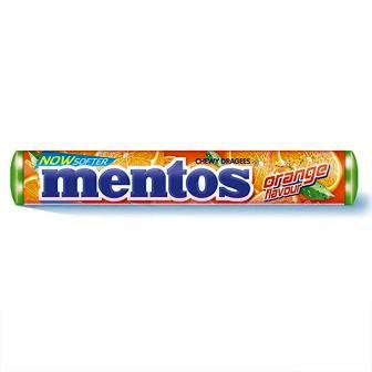 MENTOS ORANGE STICK - 36.4 GM