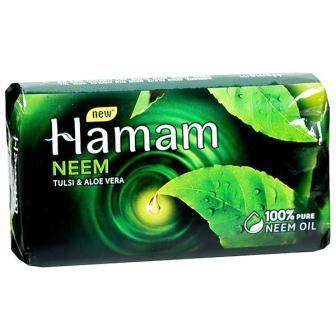 HAMAM NEEM TULSI & ALOE VERA SOAP - 100 GM