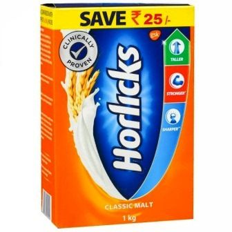 HORLICKS CLASSIC MALT BASED FOOD - REFILL PACK - 1 KG