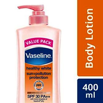 VASELINE HEALTHY WHITE SUN PLUS POLLUTION PROTECTION (SPF 30) - 400 ML