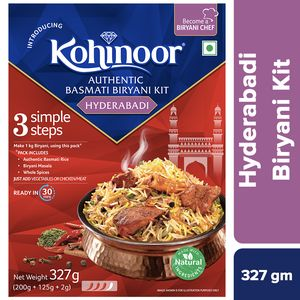 KOHINOOR HYDERABADI BIRYANI KIT - 327 GM