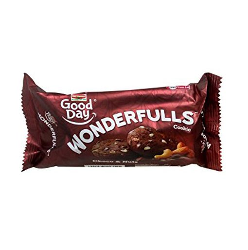 BRITANNIA GOOD DAY WONDERFULS COOKIES - CHOCO N NUT - 75 GM