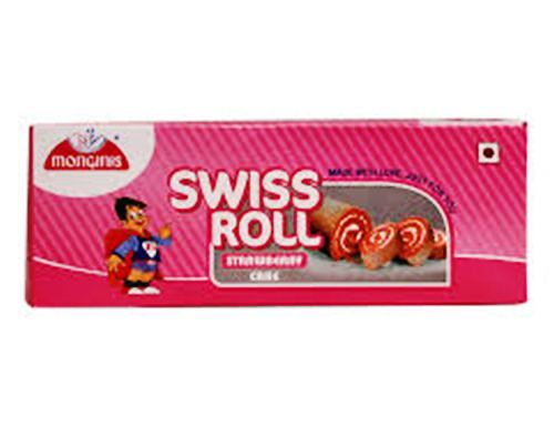 MONGINIS SWISS ROLL STRAWBERRY - 100 GM