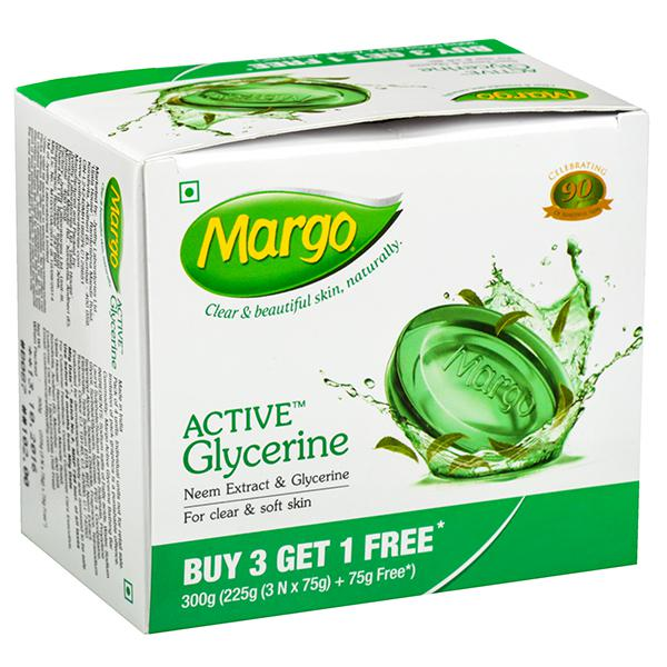 MARGO ORIGINAL NEEM & GLYCERINE SOAP -75 GM X 3 PLUS 1 FREE