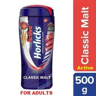 HORLICKS ACTIVE CLASSIC MALT JAR - 500 GM