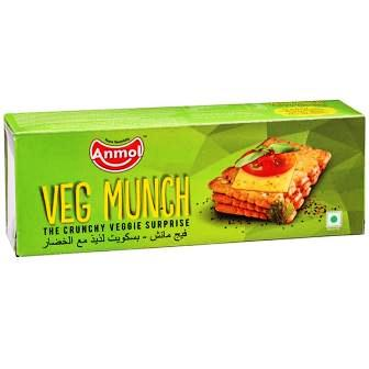 ANMOL VEG MUNCH BISCUITS - 150 GM