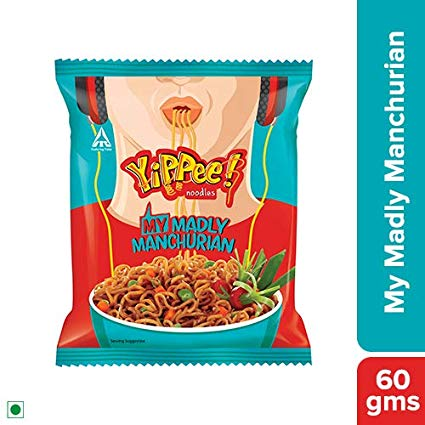 SUNFEAST YIPPEE NOODLES - MADLY MANCHURIAN - 60 GM