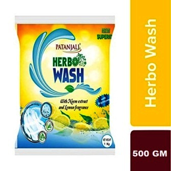 PATANJALI HERBO WASH DETERGENT POWDER - 500 GM