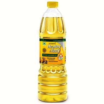 EMAMI HEALTHY & TASTY REFINED SUNFLOWER OIL (BOTTLE) - 1 LTR