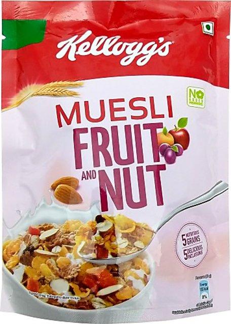 KELLOGGS MUESLI CRUNCHY FRUIT & NUT CORN FLAKES - 500 GM