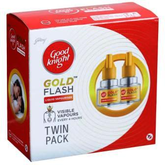 GOOD KNIGHT GOLD FLASH LIQUID CARTRIDGE TWIN SAVER - 45 ML X 2
