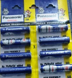 PANASONIC METAL AAA BATTERY (BLUE) - 1 PC