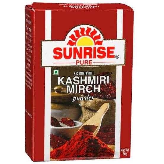SUNRISE PURE KASHMIRI MIRCH POWDER - 50 GM