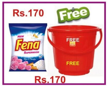 FENA DETERGENT POWDER - 2 KG PLUS FREE BUCKET