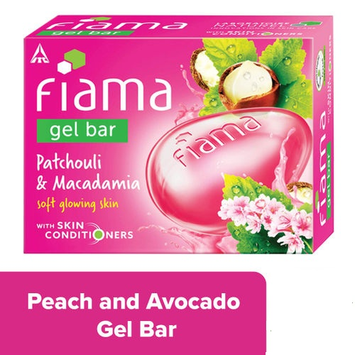 FIAMA GEL BAR PATCHOULI MACADAMIA - 75 GM