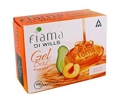 FIAMA PEACH & AVOCADO GEL BAR SOAP - 75 GM PLUS 25 GM