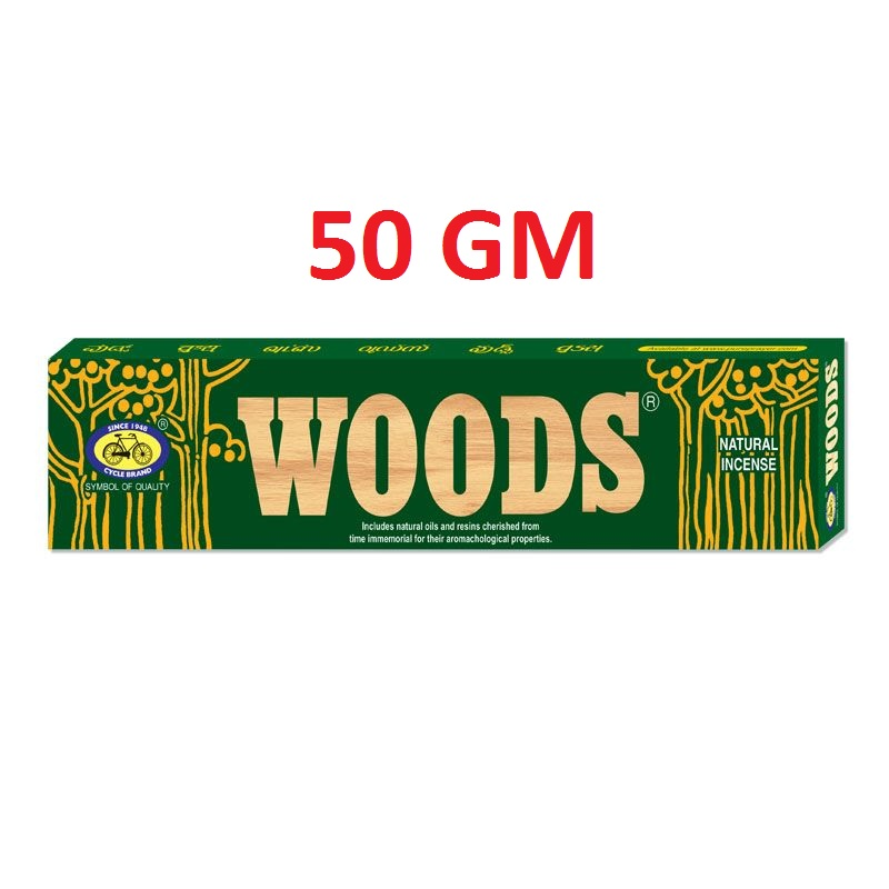 CYCLE WOODS AGARBATTI DHUPKATHI INCENSE STICK - 50 GM