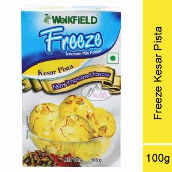 WEIKFIELD FREEZE ICECREAM MIX POWDER - KESAR PISTA - 100 GM