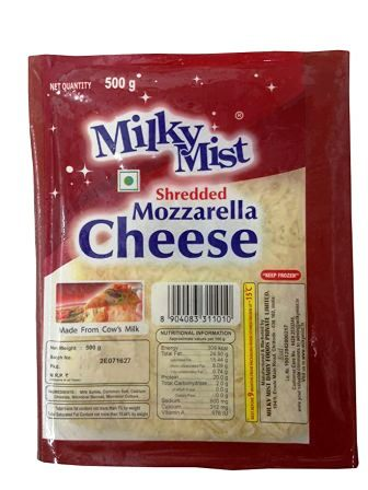 MILKY MIST SHREDDED MOZZARELLA CHEESE - 500 GM