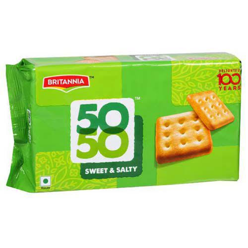 BRITANNIA 50 50 SWEET & SALTY BISCUITS - 200 GM