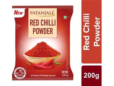 PATANJALI RED CHILLI POWDER - MIRCHI - LANKA - 200 GM