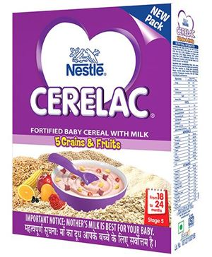 NESTLE CERELAC (18-24 MONTHS) - 5 GRAIN AND FRUIT - 300 GM