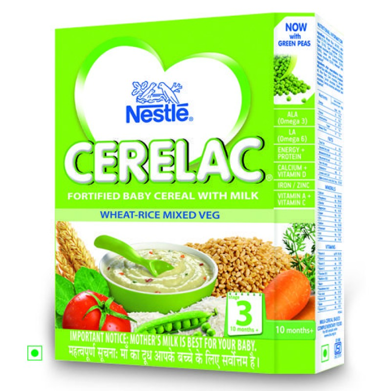 NESTLE CERELAC STAGE 3 WHEAT RICE MIXED VEG - 300 GM
