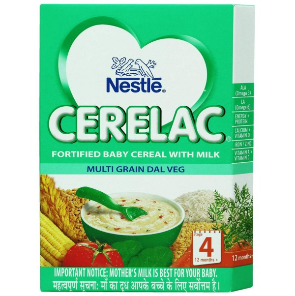 NESTLE CERELAC (12-24 MONTHS) MULTIGRAIN DAL VEG - 300 GM