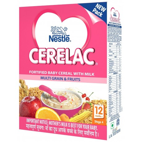 NESTLE CERELAC (12 - 24 MONTHS) STAGE 4 MULTIGRAIN & FRUITS - 300 GM