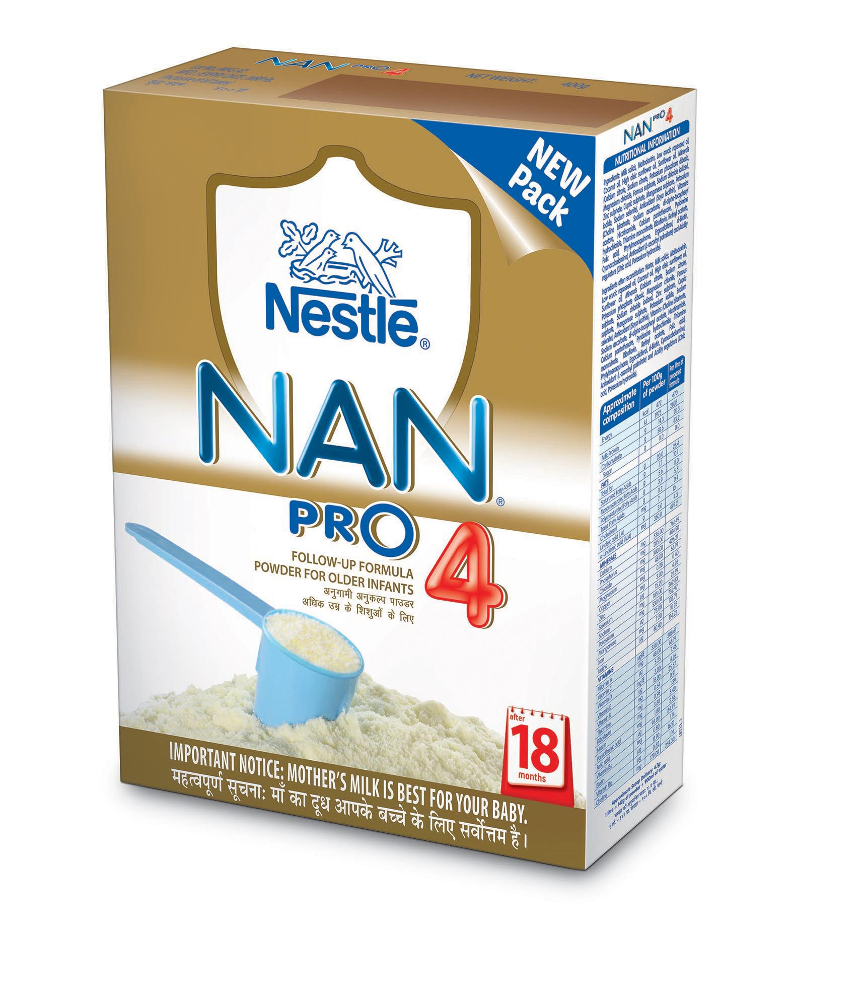 NESTLE NAN PRO 4 FOLLOW UP FORMULA - 400 GM PKT