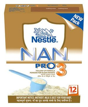 NESTLE NAN PRO 3 FOLLOW UP FORMULA - 400 GM PKT