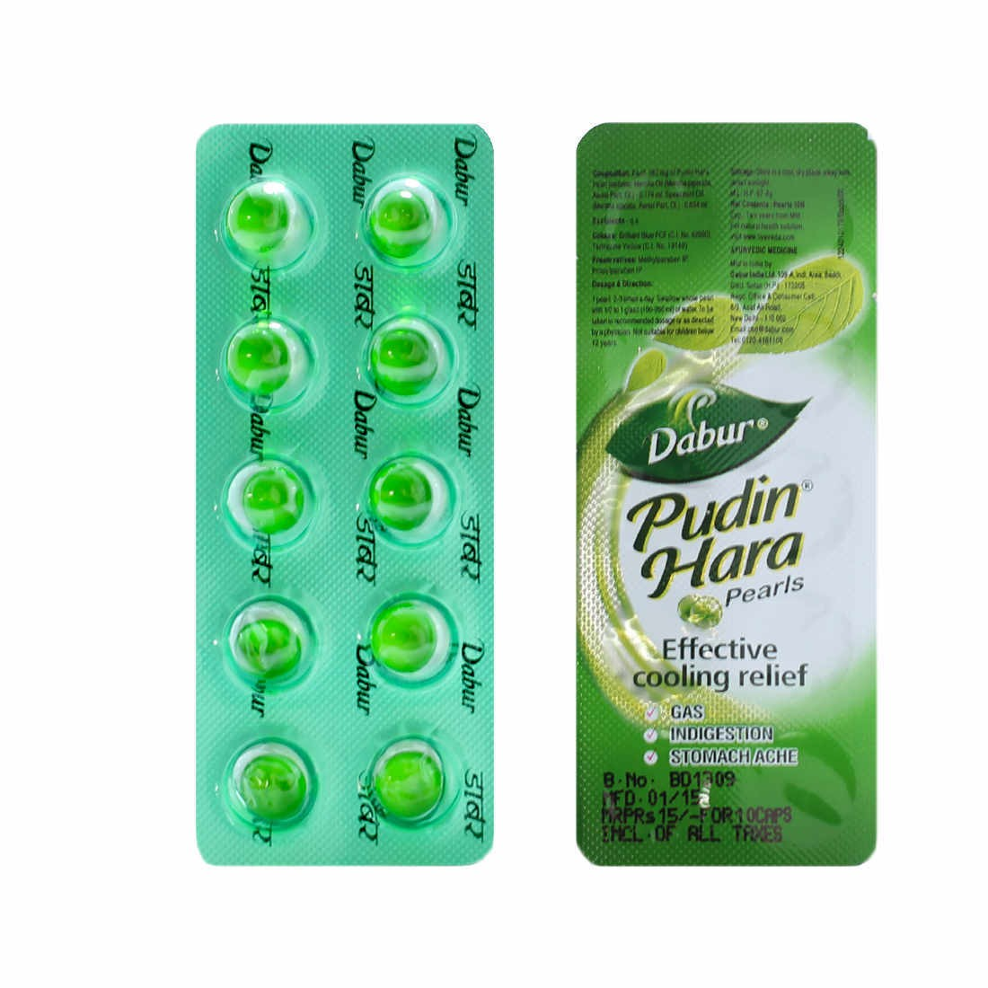PUDIN HARA CAPSULES ( 1 STRIP OF 10 CAPSULES )