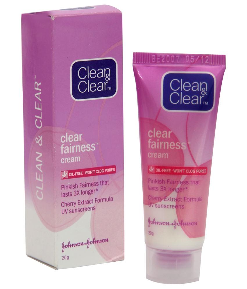 CLEAN & CLEAR FAIRNESS CREAM - 20 GM