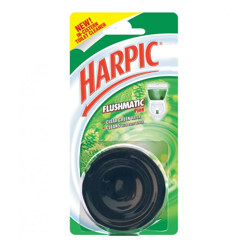 HARPIC TOILET CLEANER FLUSHMATIC CLEAR GREEN PINE - 50 GM