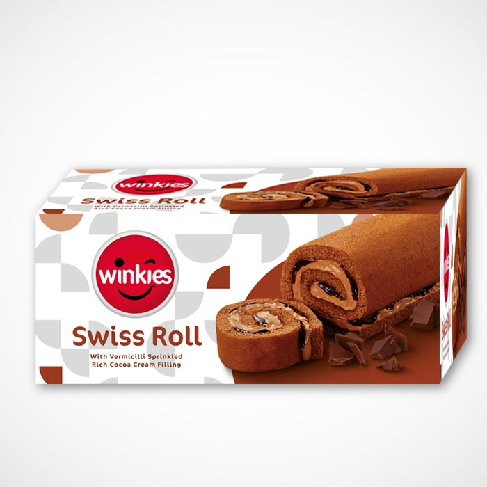 WINKIES SWISS ROLL REAL CHOCCO CREAM FILLING - 185 GM