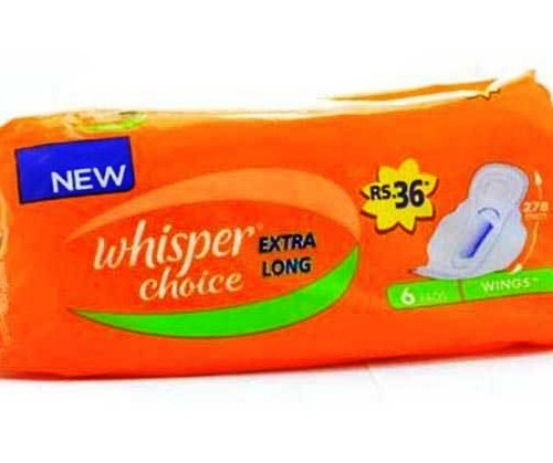 WHISPER CHOICE EXTRA LONG SANITARY PADS - 7 PCS
