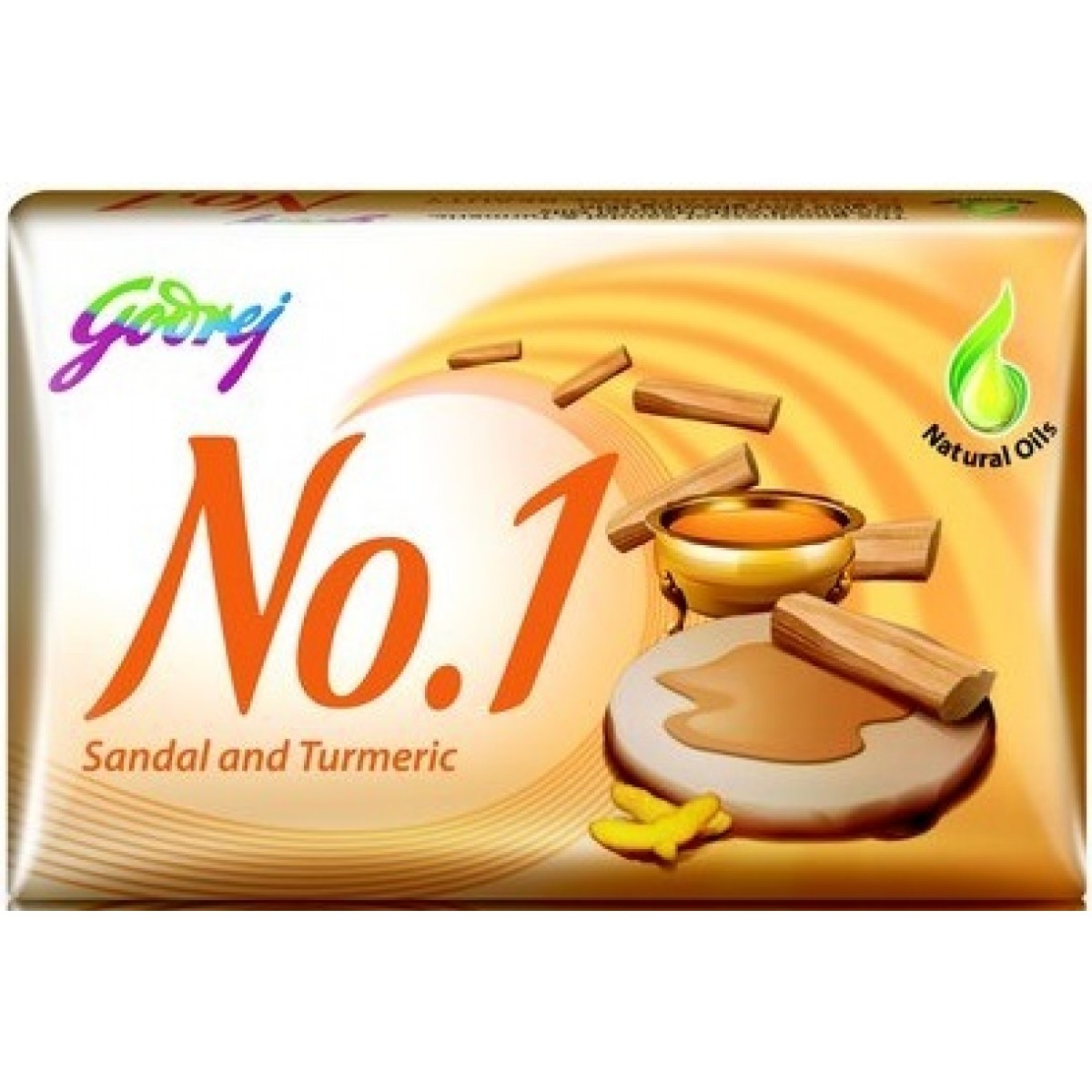 GODREJ NO 1 SANDAL AND TURMERIC SOAP - 100 GM