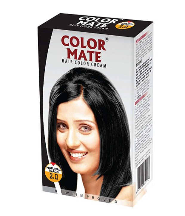COLOR MATE HAIR COLOR CREAM NATURAL BLACK 2.0 - 65 ML