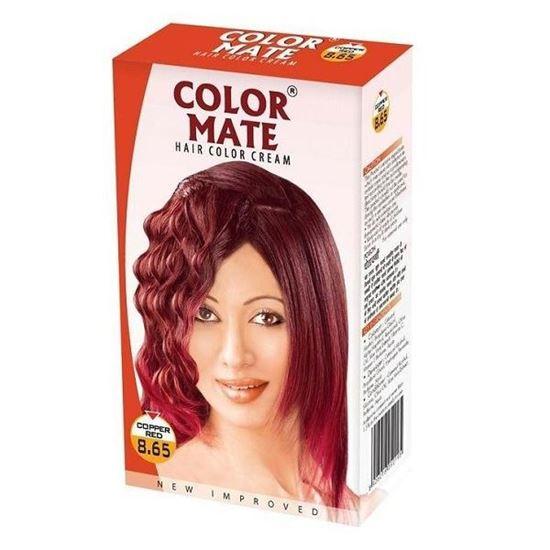 COLOR MATE HAIR COLOR CREAM COPPER RED 8.65 - 65 ML