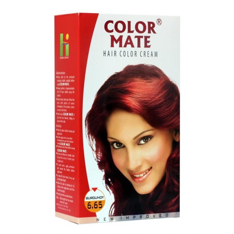 COLOR MATE HAIR COLOR CREAM BURGUNDY 6.65 - 65 ML