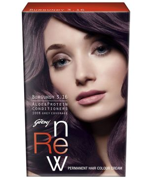 GODREJ RENEW HAIR COLOUR BURGUNDY 3.16 - 68 GM PLUS 50 ML