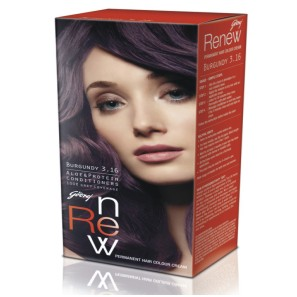 GODREJ RENEW HAIR COLOUR BURGUNDY 3.16 - 26 GM PLUS 20 ML