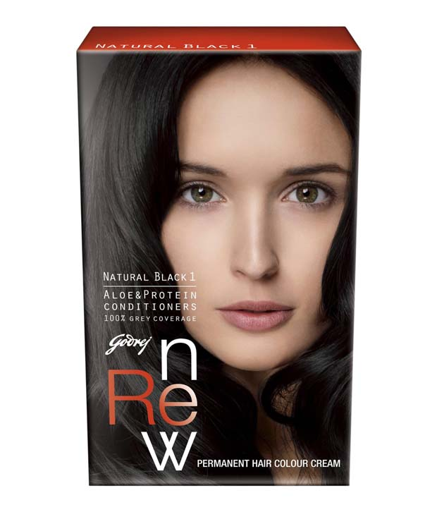 GODREJ RENEW HAIR COLOUR NATURAL BLACK 1 - 26 GM PLUS 20 ML