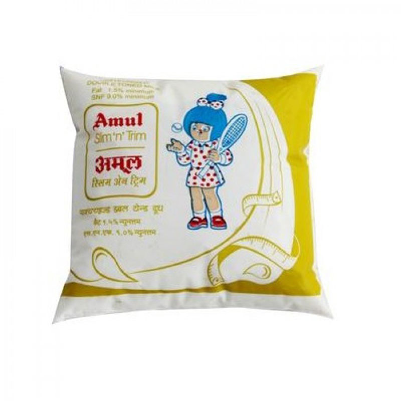AMUL DOUBLE TONED MILK - 500 ML
