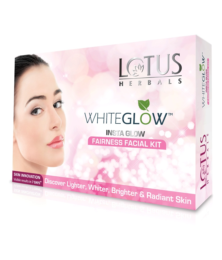 LOTUS HERBALS WHITE GLOW INSTA GLOW FAIRNESS FACIAL KIT - 1 PACKET